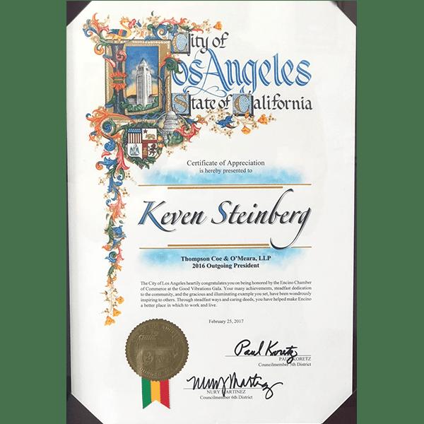 la certificate